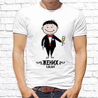 Парные футболки Push IT для молодоженов со свадебным принтом и датой