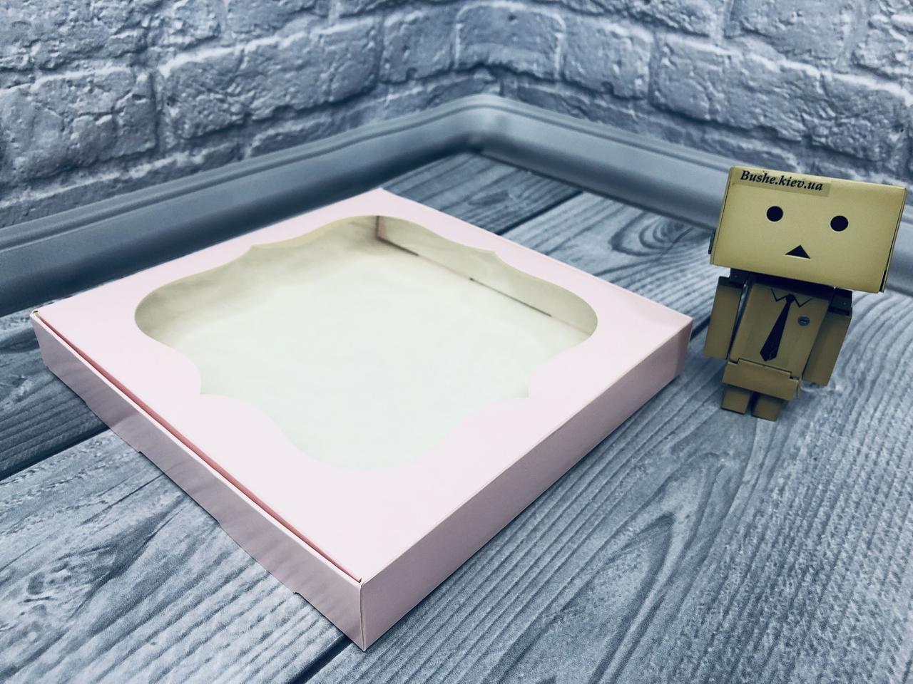 *10 шт* / Коробка для пряников / 200х200х30 мм / печать-Пудр / окно-обычн / лк