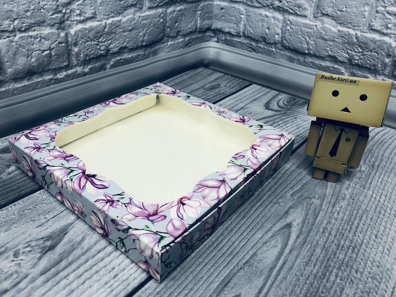 *10 шт* / Коробка для пряников / 200х200х30 мм / печать-Магнол / окно-обычн / лк / цв