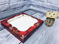 *10 шт* / Коробка для пряников / 200х200х30 мм / печать-Снег.Красн / окно-обычн / НГ, фото 1