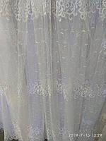 Тюль турецкая занавески портьеры шторы ширина 285 см сублимация тюль-25077, фото 1