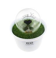 Декоративный романтический светящийся электронный LED цветок в горшке «I Love U»