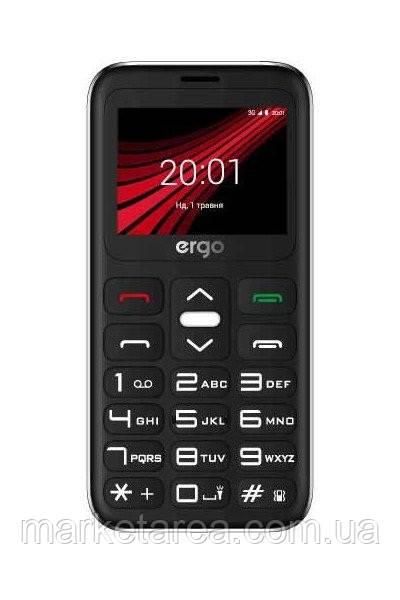 Кнопочный телефон бабушкофон с камерой на 2 сим карты ERGO F186 Solace DS Silver