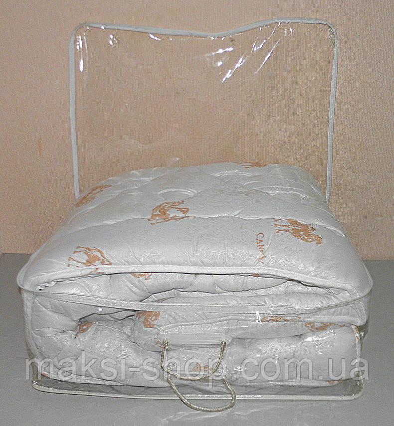 Двуспальное одеяло в подарочном чемодане (ткань микрофибра наполнитель верблюжья шерсть ) (Х-505)