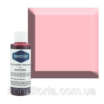 Краситель гелевый Америколор (Americolor) Мягкий розовый (Soft Pink),128 г. № 232