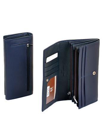 Большой женский кошелек синий ST иск-кожа SERGIO TORRETTI W501 dark-синий, фото 2
