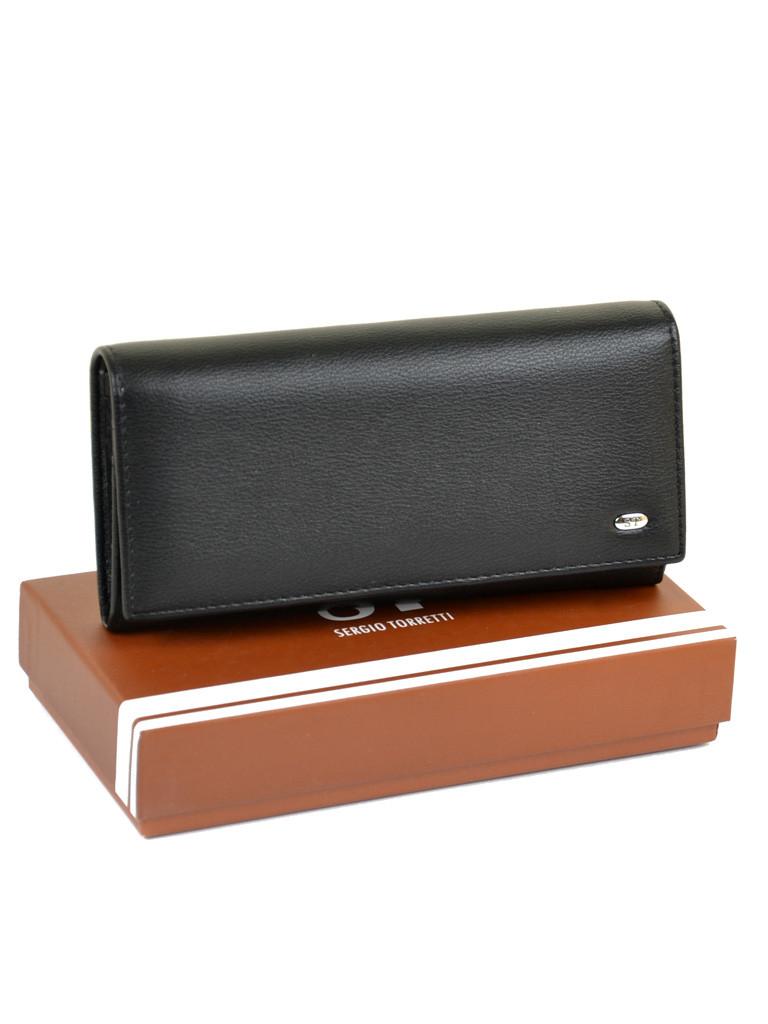 Великий жіночий гаманець Чорний ST штучна-шкіра SERGIO TORRETTI W501 чорний