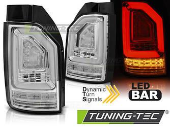 Диодные Led фонари тюнинг оптика VW T6 ляда (белые)