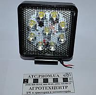 Фара рабочего света LED 9х3 квадратная ФР-230СБ(RS WL-0727 floow)