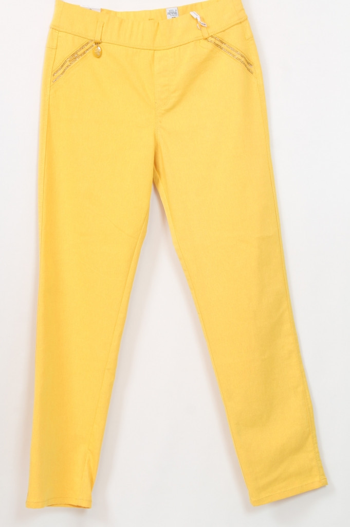 Женские летние желтые брюки, Турция, 48-54