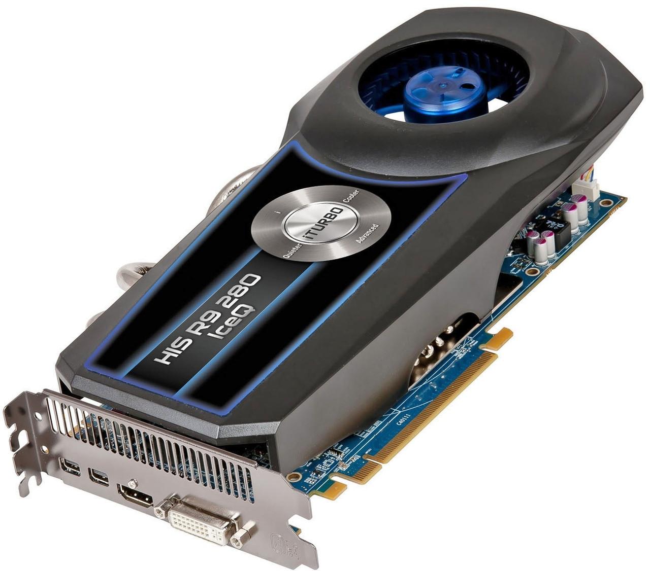 """Видеокарта HIS R9 280 IceQ OC 3GB H280QC3G2M """"Over-Stock"""" Б/У"""
