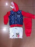Спортивные трикотажные костюмы тройки для девочек.Размеры 116-146 см.Фирма GOLOXY Венгрия, фото 1