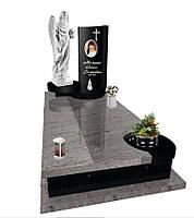 Пам'ятник надгробний Елітний одинарний з Ангелом  Е 6125