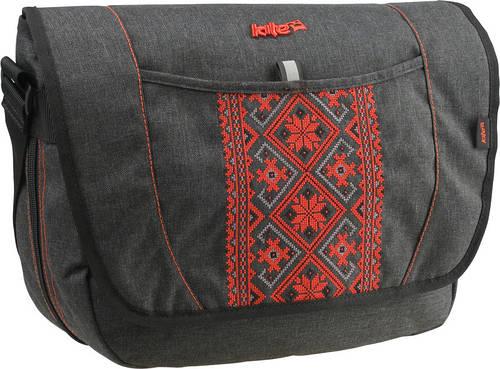 Замечательная молодежная сумка с отделением для ноутбука Take'n'Go Kite K15-806K серый