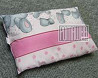 Подушка детская 38х58 набивная подушечка гипоаллергенная 4619 Розовый