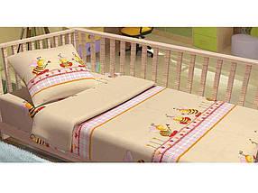 """Комплект дитячої постільної білизни BABY Бджоли (40х60) арт. KD003-50 """"Kidsdream"""""""