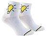 Носки с принтом мужские короткие Mushka Lamp (LAM001) 41-45 Белые, фото 2