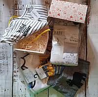 BABY коробочка-СЮРПРИЗ брендовых вещей Джордж Картерс Муслиновая пеленка носки слюнявчики бодики-штаны и еще..