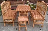 Мебель плетеная  со скамейками, фото 1
