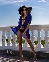 Туника для пляжа из легкого прозрачного шифона, цвет электик