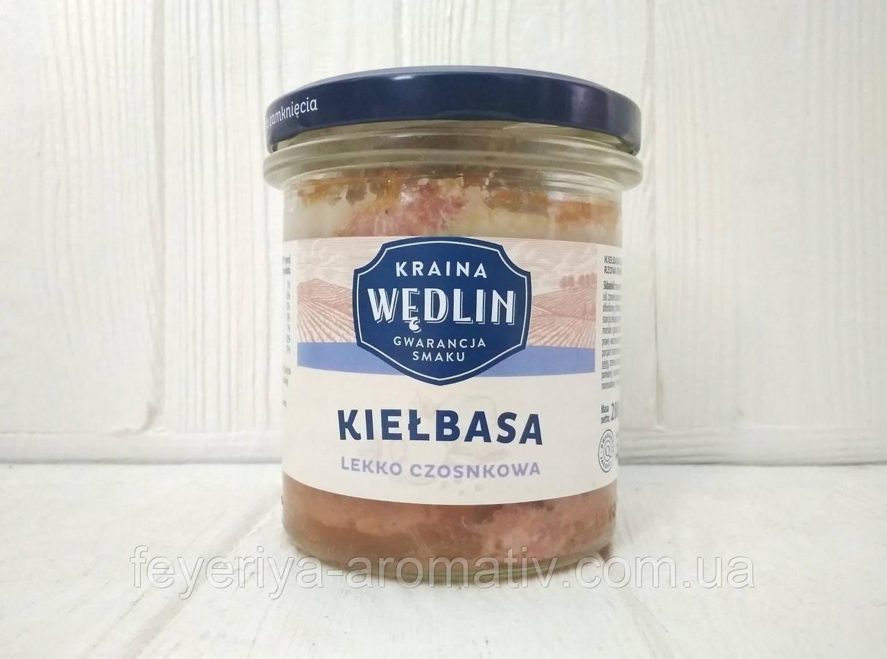 Тушенка колбаса с чесноком Kraina Wedlin Kielbasa, 280гр (Польша)