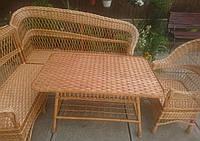 Мебель плетеная с угловым диваном