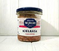 Тушенка колбаса краковская Kraina Wedlin Kielbasa Krakowska, 280гр (Польша)