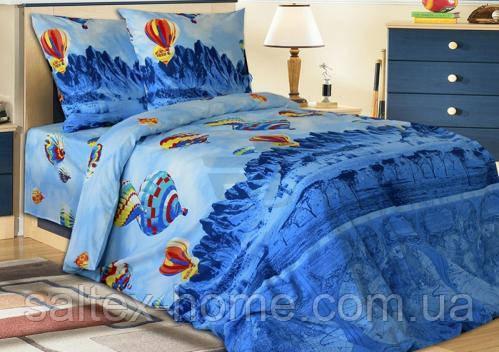 Ткань для постельного белья, бязь набивная,  АЭРОСТАТЫ
