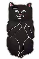 Силіконовий чохол Cat F**k iPhone 6S Plus / 6 Plus, чорний