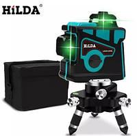 Лазерный уровень/лазерный нивелир 3D Hilda БИРЮЗОВЫЙ ЛАЗЕР