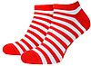 Носки с принтом мужские короткие Mushka Cherry mini (SWRM01) 41-45 Красно-белые, фото 2