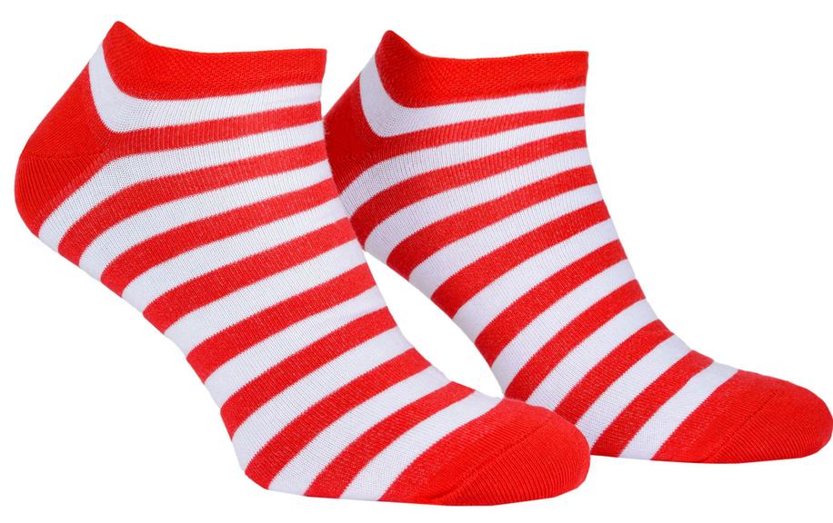 Носки с принтом женские короткие Mushka Cherry mini (SWRM01) 36-40 Красно-белые