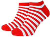 Носки с принтом женские короткие Mushka Cherry mini (SWRM01) 36-40 Красно-белые, фото 3