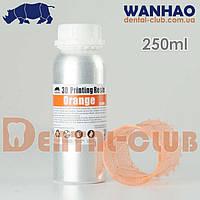 Фотополімерна смола (фотополімер) Wanhao (Ванхао) 405nm UV resin для роботи з DLP 3D принтерами  250 мл, оранжева