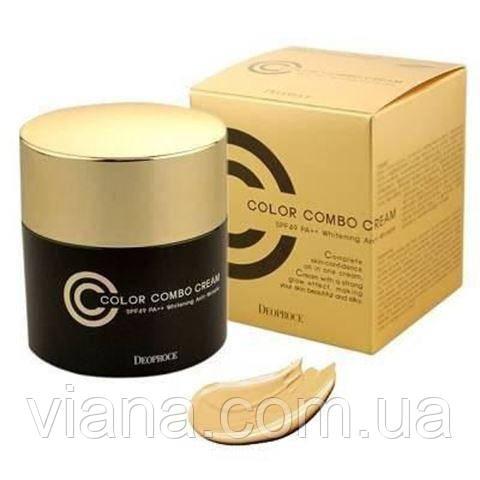 Deoproce Color Combo Cream-СС-Combo крем 4 в 1 антивозрастной №23 Песочный бежевый (Sand Beige)