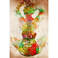 """Алмазная мозаика """"Гитара"""", картина стразами 30*45см"""