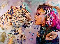 """Алмазная мозаика """"Лео"""", картина стразами 40*50см"""