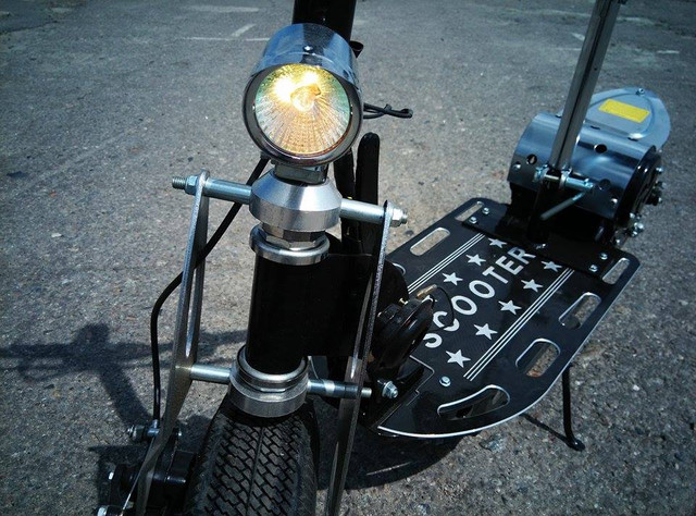 электросамокат с двигателем от шуруповерта