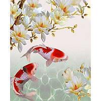 """Алмазная мозаика """"Жемчужные рыбы"""", картина стразами 25*30см"""