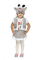 Карнавальный костюм серой Козочки для девочки