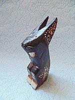 Статуэтка кролик деревянный высота 12 см