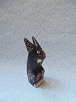 Статуэтка кролик деревянный высота 10 см