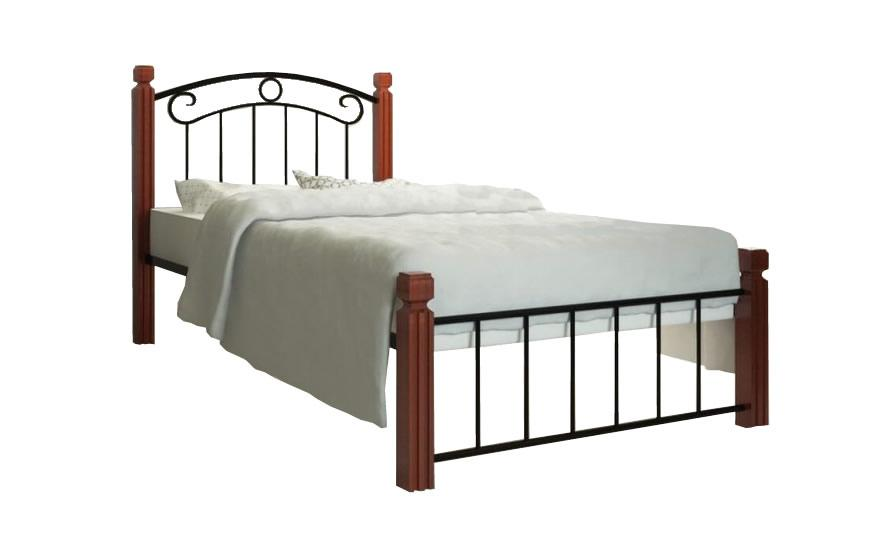 Кровать на деревянных ножках Металл-Дизайн Монро Черный