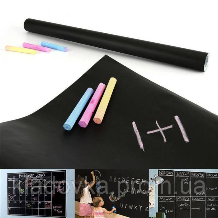 Доска-наклейка с цветными мелками для детского творчества, фото 1