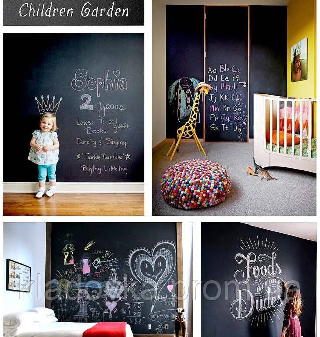 Доска-наклейка с цветными мелками для детского творчества, фото 6