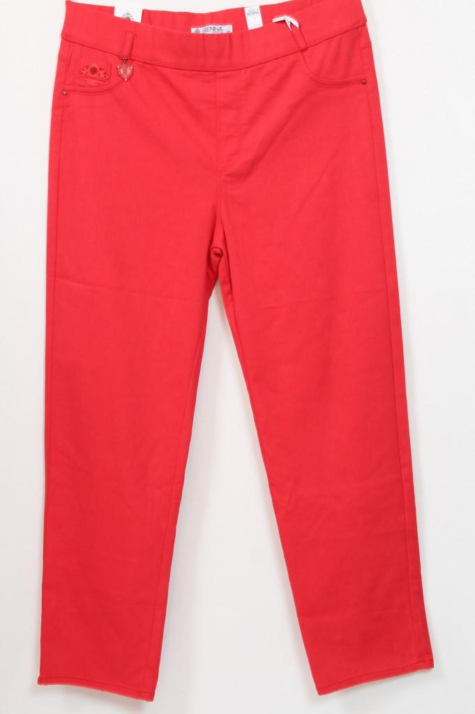 Турецкие женские красные брюки больших размеров 56-62