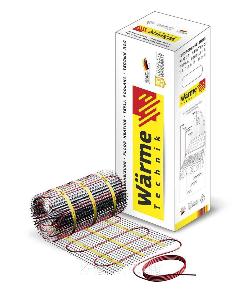 Двожильний нагрівальний мат Варм (Wärme) Twin mat - 300/2м²