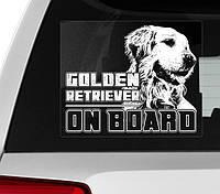 Наклейки автомобильные с разными породами собак