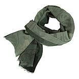 10374-10, павлопосадский шарф (кашне) вовняної (розріджена шерсть) з осыпкой, фото 2