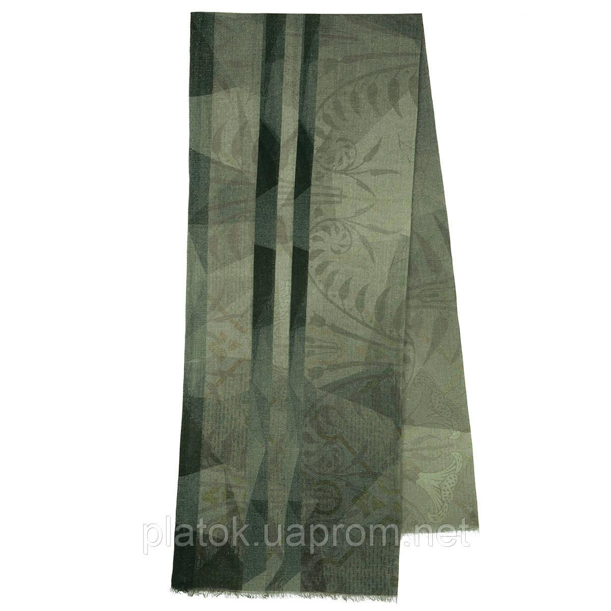 10374-10, павлопосадский шарф (кашне) вовняної (розріджена шерсть) з осыпкой
